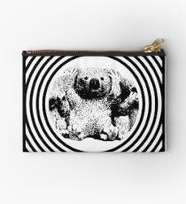 Cool koala retro style black white Studio Pouch