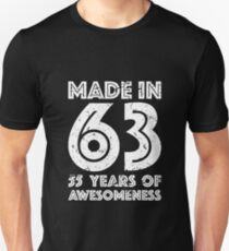 55th Birthday Gift Adult Age 55 Year Old Men Women Unisex T Shirt
