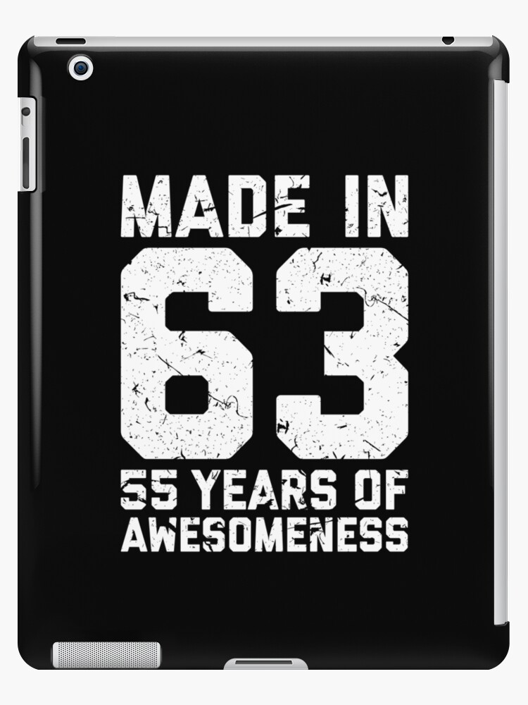 55th Birthday Gift Adult Age 55 Year Old Men Women IPad Cases
