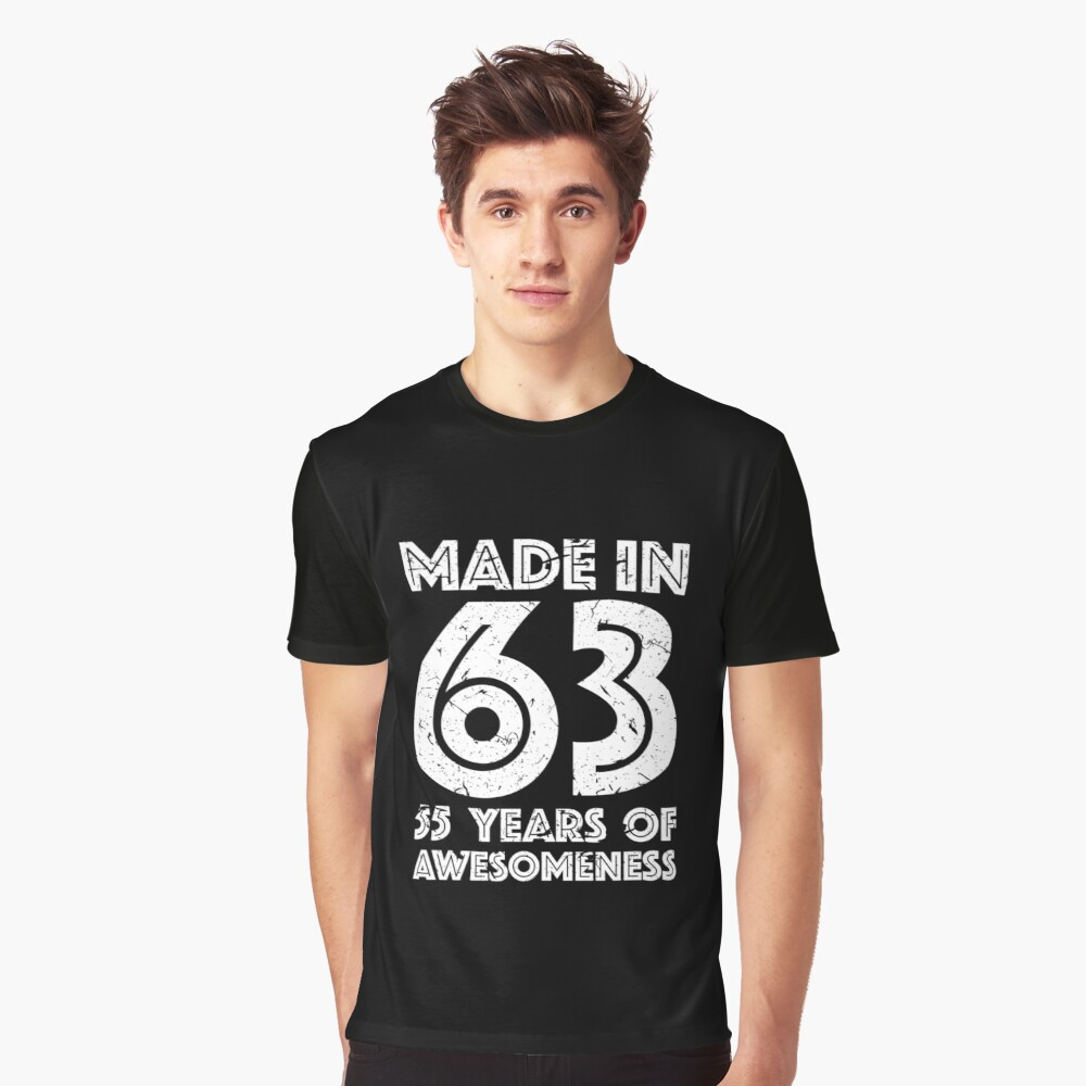 55th Birthday Gift Adult Age 55 Year Old Men Women Graphic T Shirt