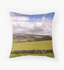 Rolling Hills of the Borders Throw Pillow