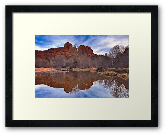 Sedona, Oak Creek Reflections of Cathedral Rock by photosbyflood