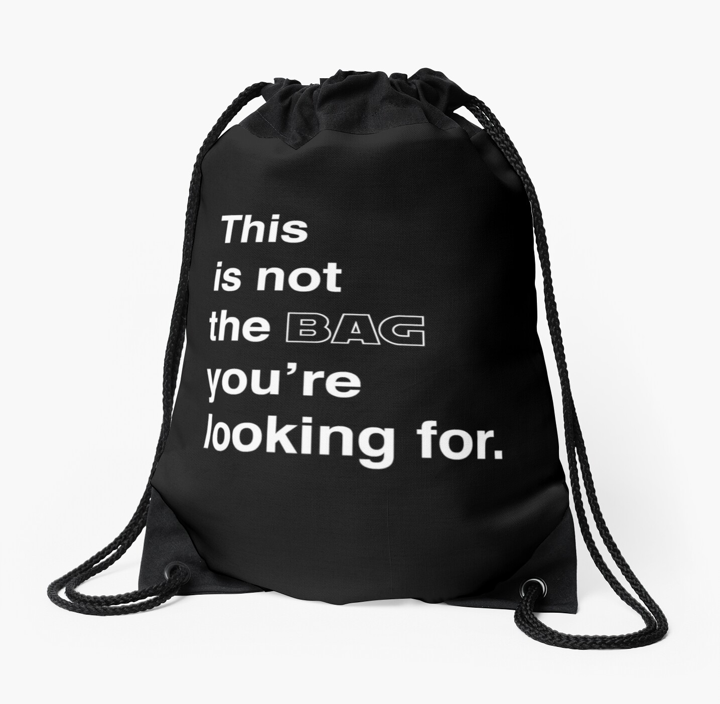 this is not the bag you're looking for. by studioYNM