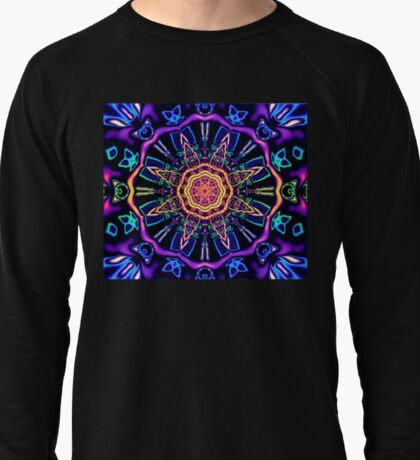 """Return to Awe"" - Psychedelic Abstract Mandala  Lightweight Sweatshirt"