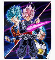Goku Black VS Saiyans Poster