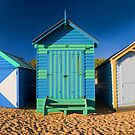Beach Huts by Lesley Williamson