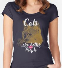 Great cat design Women's Fitted Scoop T-Shirt