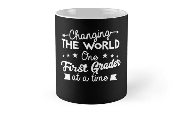 1st First Grade Teacher Tshirt Best Teacher Gifts Mugs By Noirty