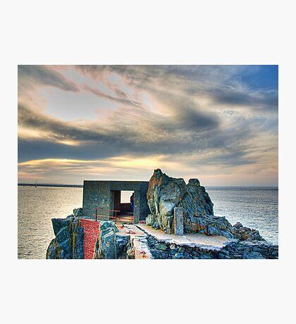 Bunker on a Headland - Alderney Photographic Print