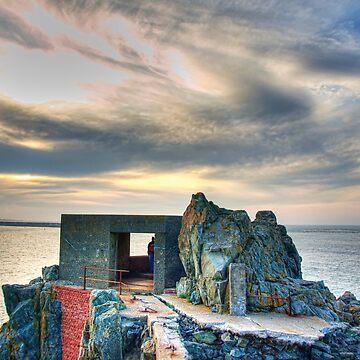 Bunker on a Headland - Alderney by NeilAlderney