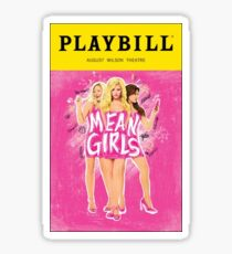 mean girls broadway playbill Sticker
