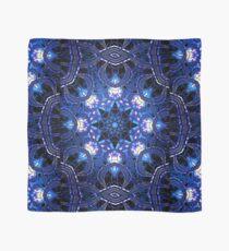 """On the Edge of Bliss"" (Blue Tones) - Geometric Abstract Mandala  Scarf"