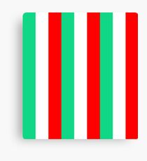 Red, Green and White Stripes Canvas Print