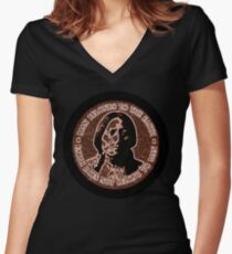 COPPER CHIEF SITTING BULL  #standwithstandingrock Women's Fitted V-Neck T-Shirt