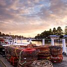 Cray Pots beside the Moyne River, Port Fairy, Victoria by Christine Smith