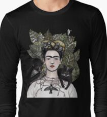 Frida Kahlo self portrait version Long Sleeve T-Shirt