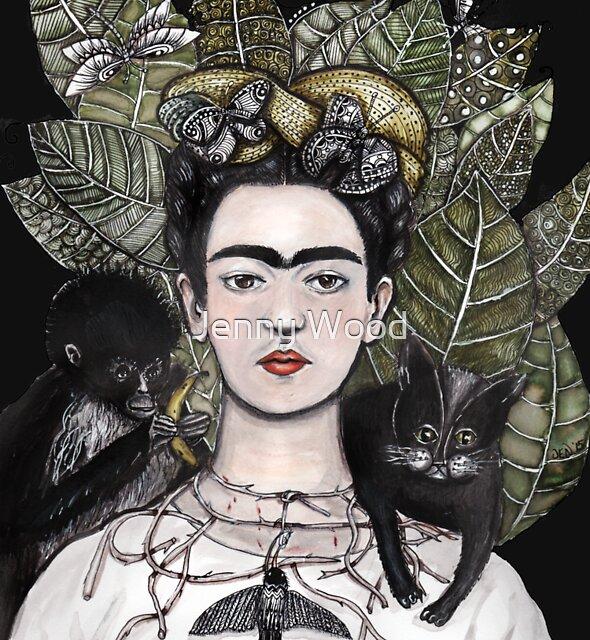 Frida Kahlo self portrait version by Jenny Wood