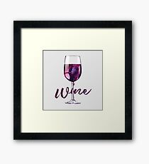 Wine Lover Galaxy in a Glass Framed Print