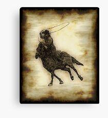 Rodeo Cowboy Steer Roper Canvas Print