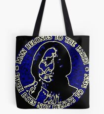Sitting Bull Blue, Earth Does Not Belong To Man Tote Bag