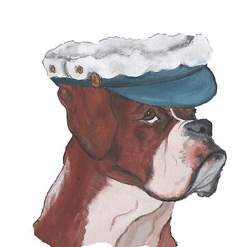 BOXER DOG wearing hat by Annie18c