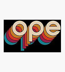 Disco Ope Photographic Print