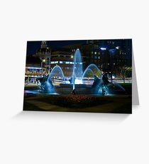 Plaza Fountain Greeting Card