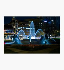 Plaza Fountain Photographic Print