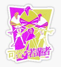 Punk Mascot Stencil Sticker