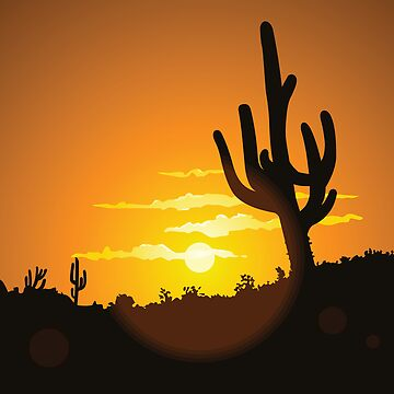 Cactus Sunset by befehr