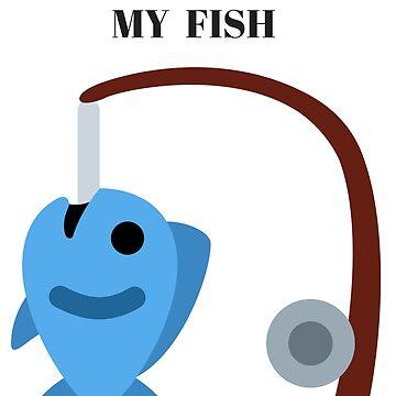 T - shirt I love eat my fish by diastore