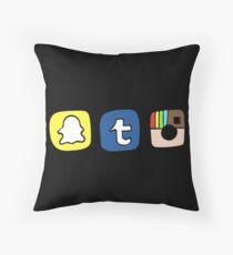 Tumblr Instagram Snapchat Apps Kissen