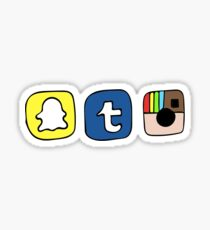 tumblr instagram snapchat apps Sticker