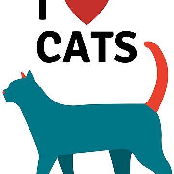 I love my cat T- shirt by diastore