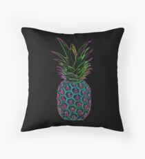Neon Pineapple Throw Pillow