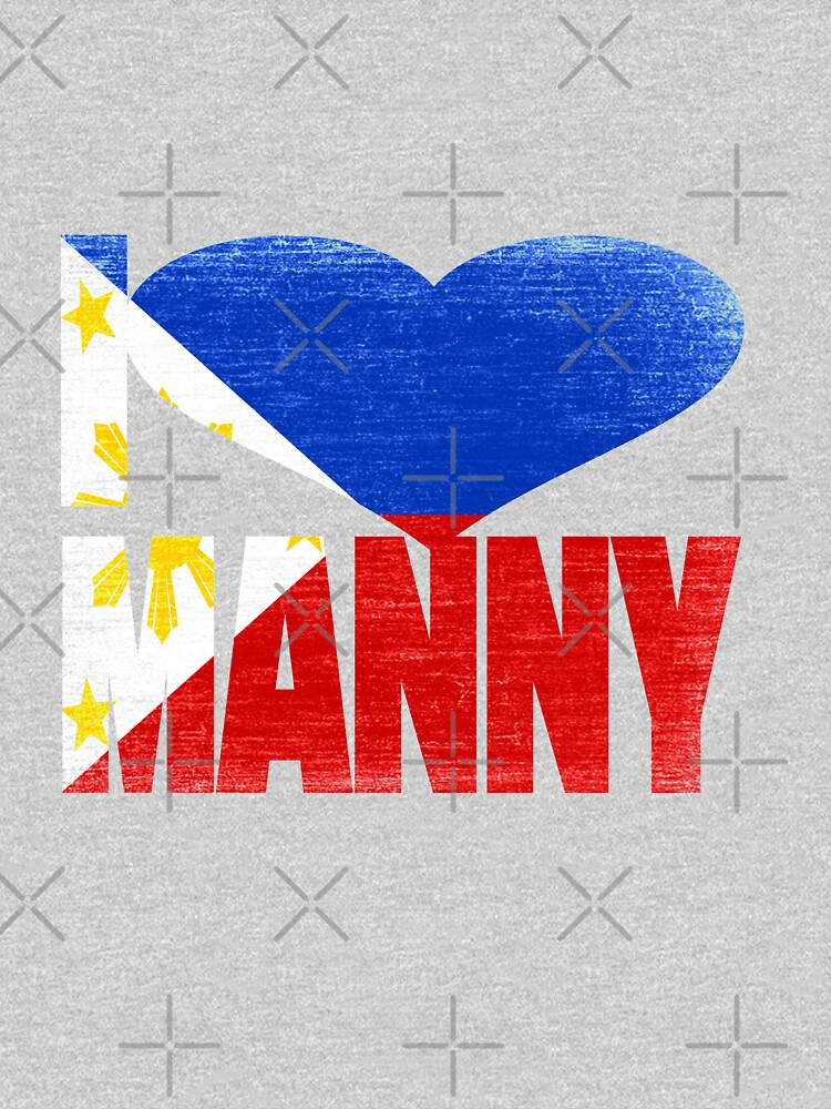 Vintage Grunge I Love Manny Pacquiao by EthosWear