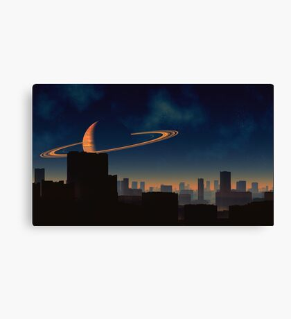 Skyline - Titan City Canvas Print