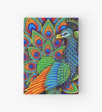 Colorful Paisley Peacock Bird Hardcover Journal
