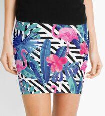 Pink Flamingo Tropical Summer Print Mini Skirt