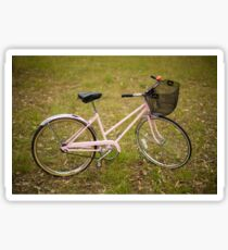 Pink Pedal Challenge 2015 - Support Jo and Ginny - bike in grass Sticker