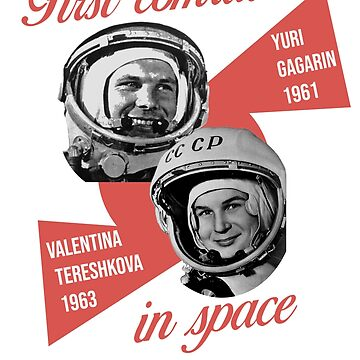 Gagarin and Tereshkova, first astronaut comrades by KosmonautLaika