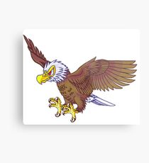 Cartoon Bald Eagle Metal Print