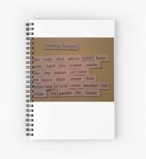 Evening Hunger poem Spiral Notebook