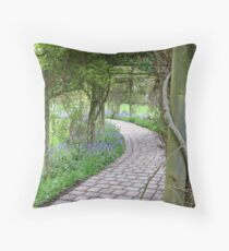 """Arbored Pathway"" Throw Pillow"