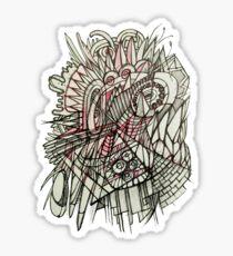 Spikey abstraction Sticker