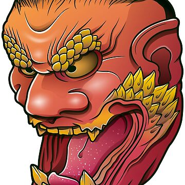 Oni Demon Mask by satoriartwork