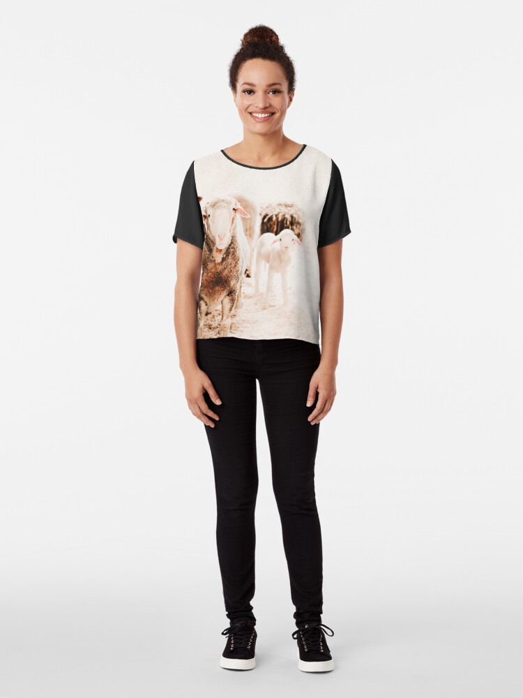 Alternate view of Millys family portrait Chiffon Top