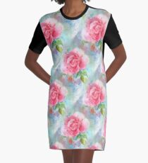 Corsage multiple Graphic T-Shirt Dress