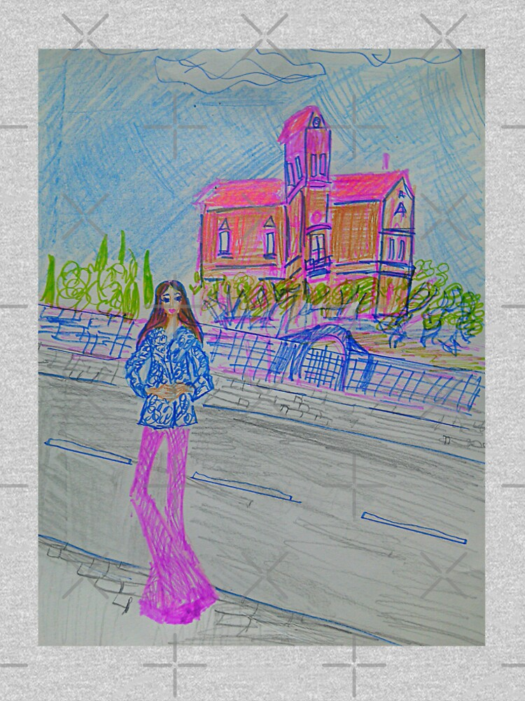 Fashion Illustration: Girl In Front of A House by IvanaKada