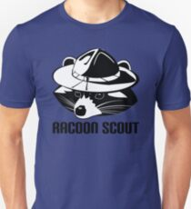Racoon scout animal funny cute Unisex T-Shirt